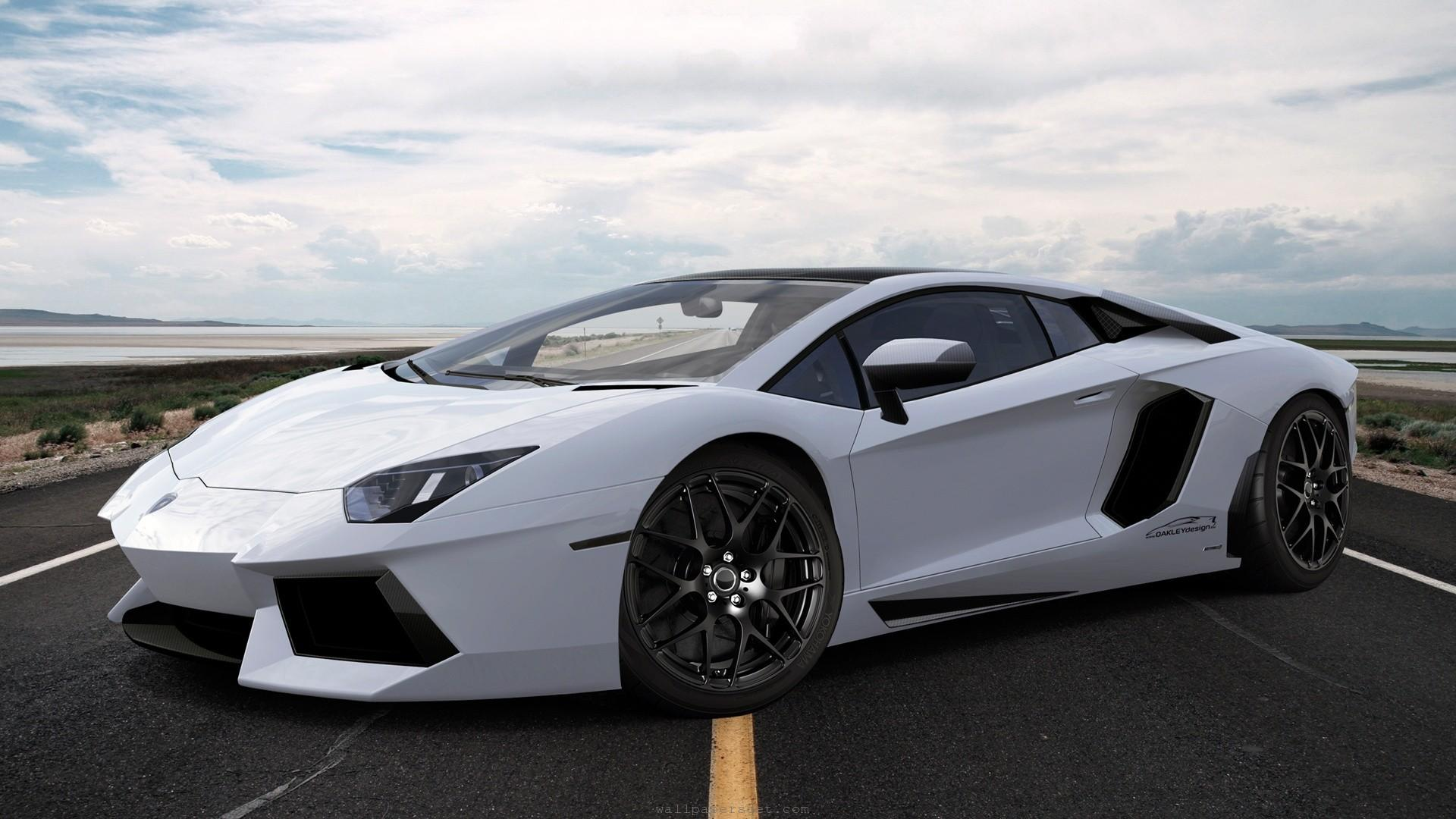 2014-Lamborghini-Aventador-White-Background-HD-Wallpaper ...
